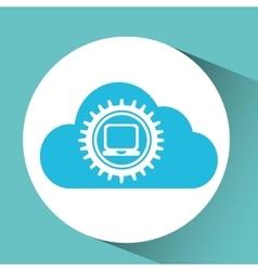 cloud laptop icon vector image