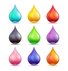 Colorful drops set vector image