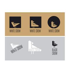 geometric decorative bird symbol vector image vector image
