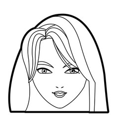 holy virgin mary cartoon face icon vector image
