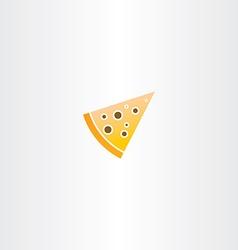 pizza piece icon vector image
