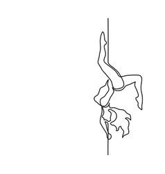 Romantic striptease dancer vector