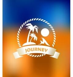Tropical summer vacation icon vector image vector image