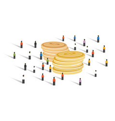 crowd-funding money financial donation crowd group vector image vector image