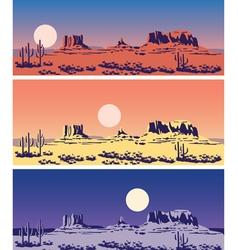 Wild West set vector image