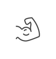 biceps line icon vector image