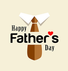 happy fathers day brown necktie design vector image vector image