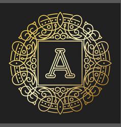 monogram a bage logo text vector image