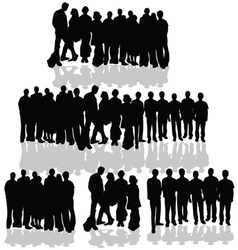 people group on white vector image vector image