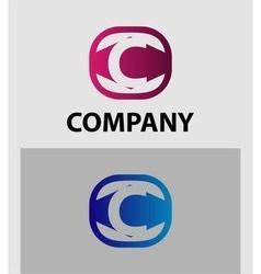 Sign letter c vector