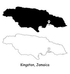 1091 kingston jamaica vector