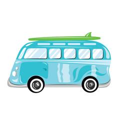 a cartoon bus transport vector image