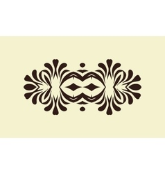 Abstract black tribal ornament vector