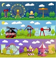 Amusement park banner concept vector