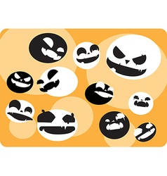 Background with crazy face Halloween ball vector