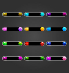 Big set bar downloader with bubble vector