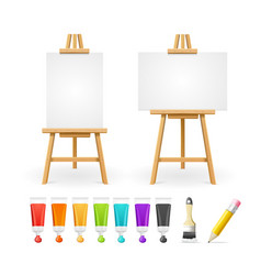 Board easel blank empty template and painting vector