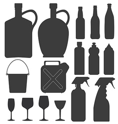 Bottle collection vector image
