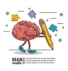Brain creative poster vector