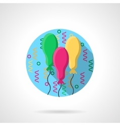 Bright oval balloons round color icon vector image