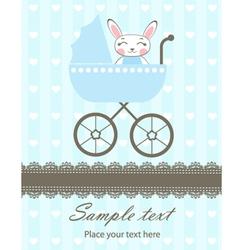Bunny boy newborn vector image