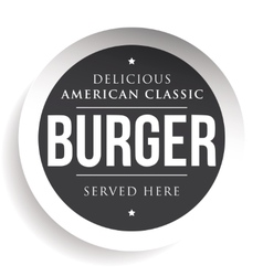 Burger vintage black stamp vector