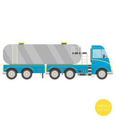 Cartoon transport tank truck vector