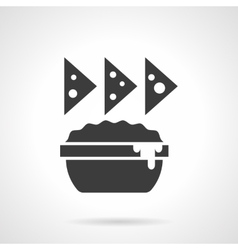 Cheese appetizer glyph style icon vector