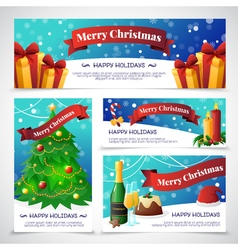 Christmas Party Cards Banners vector image