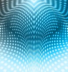 Circles abstract blue vector image