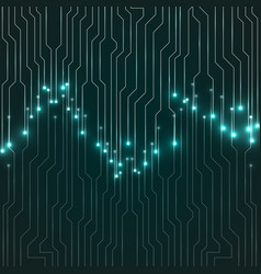 circuit board technology background vector image
