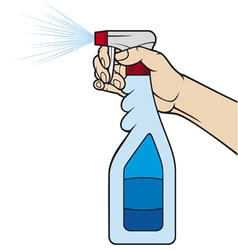 cleaning spray bottle vector image