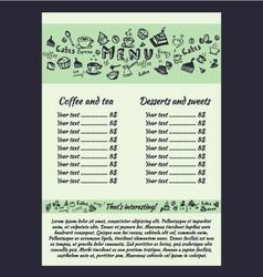 Coffee menu hand vector image