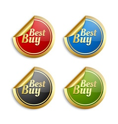 Colorful best buy stickers vector image