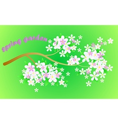 Colorful floral greeting card international happy vector