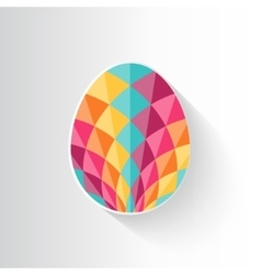 Colorful patterned Easter egg vector image