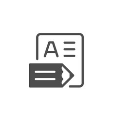 Document or contract writing glyph icon vector