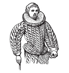 doublet body garment vintage engraving vector image