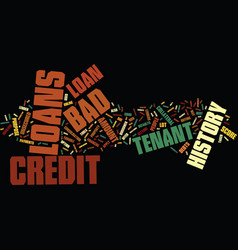 End your financial worries with bad credit vector