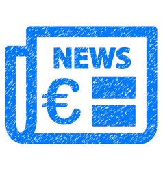 Euro newspaper grunge icon vector