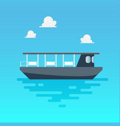 Ferry boat in flat style vector