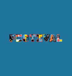 Festival concept word art vector