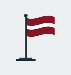 flag of latviaflag stand vector image