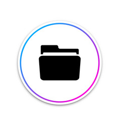 folder icon isolated on white background vector image