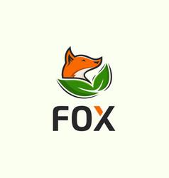 Fox design template vector