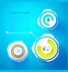 futuristic infographic template vector image