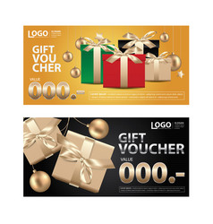 gift voucher coupon template for your business vec vector image