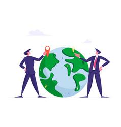 Global development worldwide globalization vector