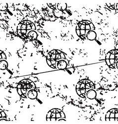 Global search pattern grunge monochrome vector