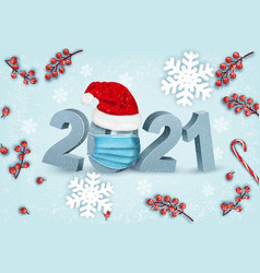 happy chistmas and new year background and 2021 vector image